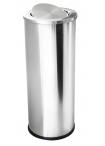 Кош за отпадъци инокс с люлеещ капак