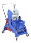 Професионална количка с две кофи и преса КОМПАКТ