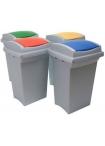 Пластмасов кош за разделно събиране  50л